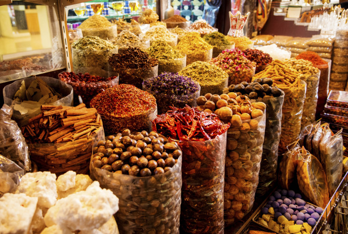 Spices in the spice souk in Dubai