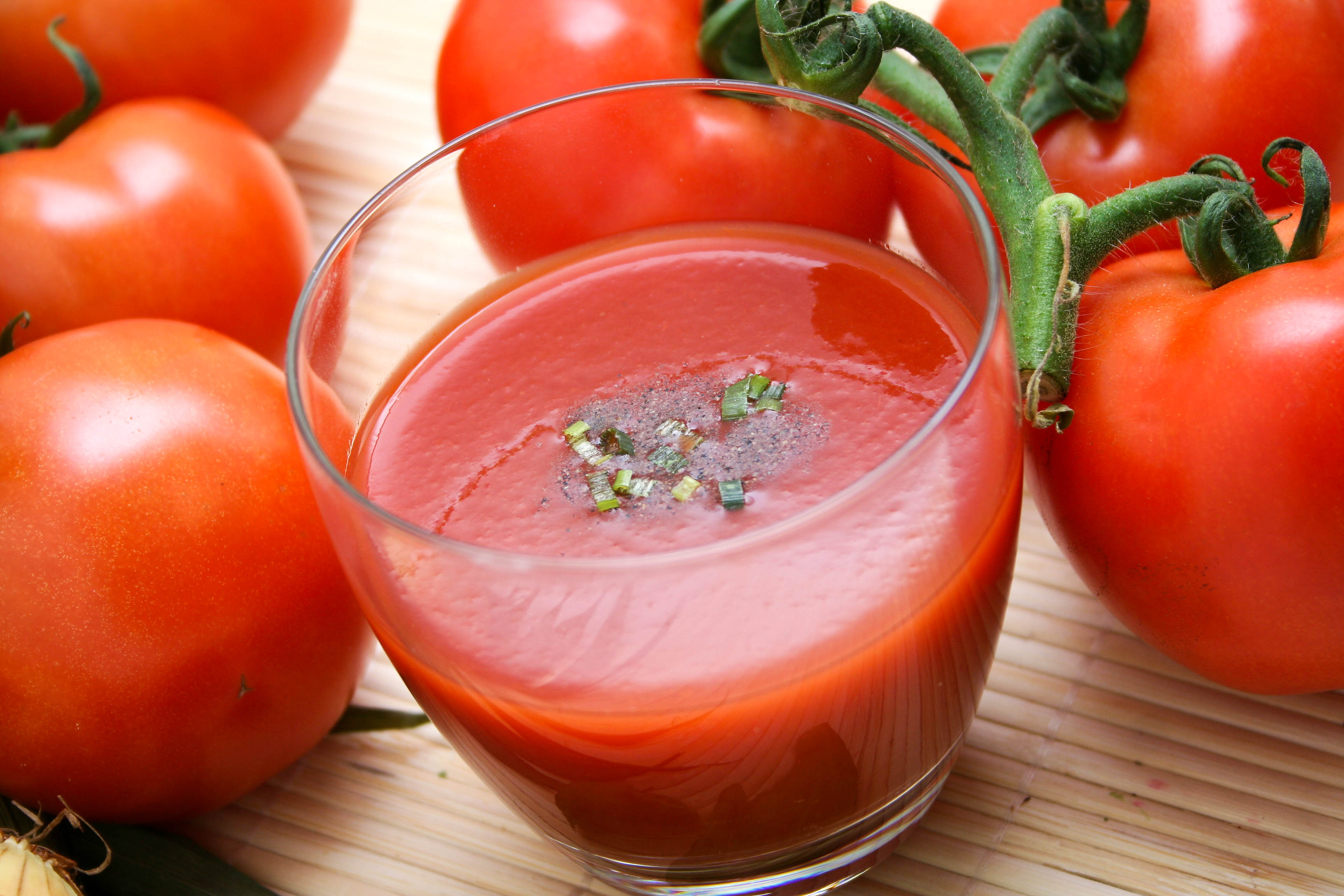 juice of tomatos