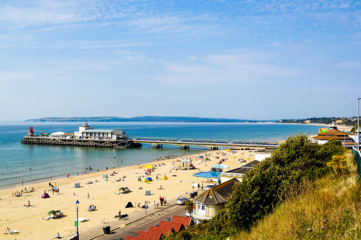 Bournemouth Beach and Pier from East Cliff