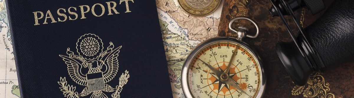 Passport, Compass & Binoculars