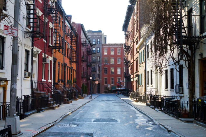 New York City – Historic buildings on Gay Street in Manhattan_shutterstock_247248475