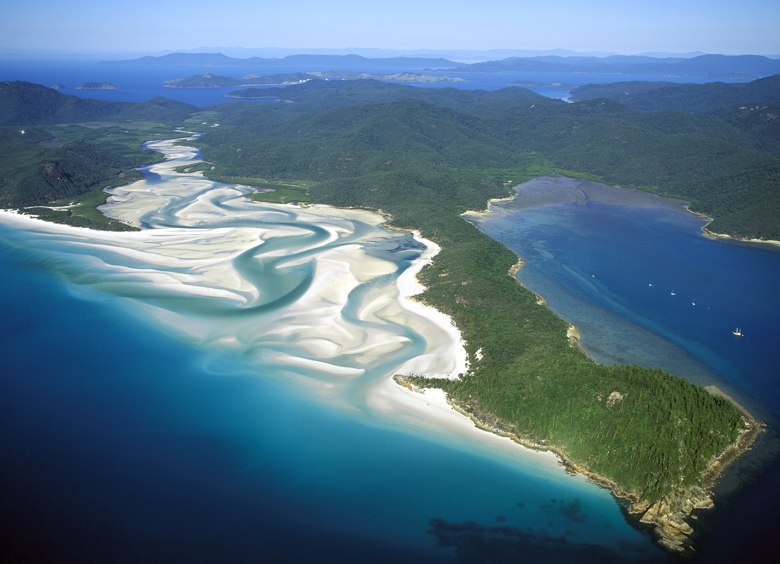 Die Natur der Whitsunday Islands und Whitehaven Beach