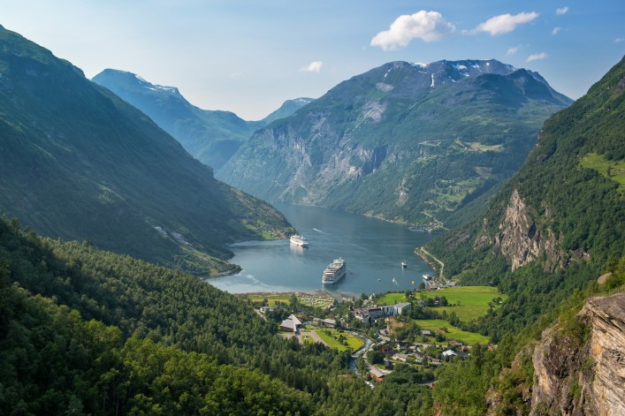 Beautiful view to Geiranger fjord Norway_shutterstock_513090841