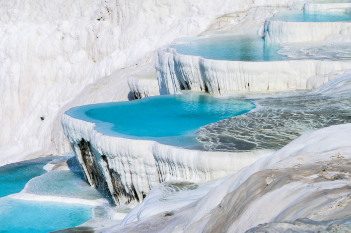 Pamukkale, travertine terraces