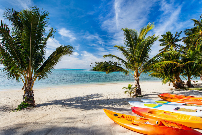 Blue sky at Cook Islands, South Pacific shutterstock_339410615-2