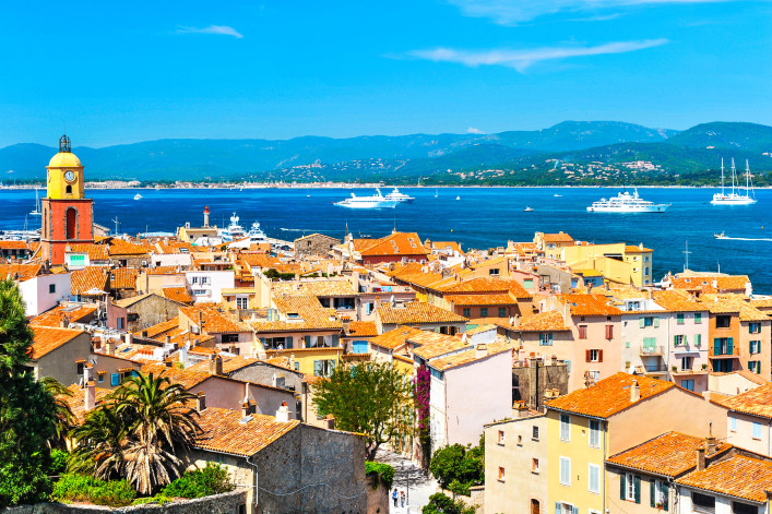 Beautiful view of Saint-Tropez. France, Provence