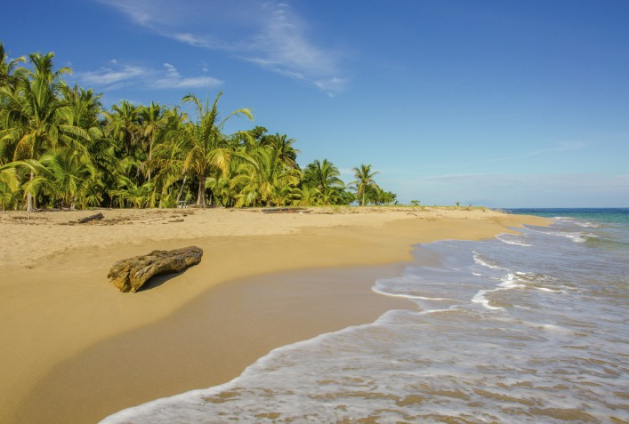 Beach caribbean of Costa Rica close to Puerto Viejo
