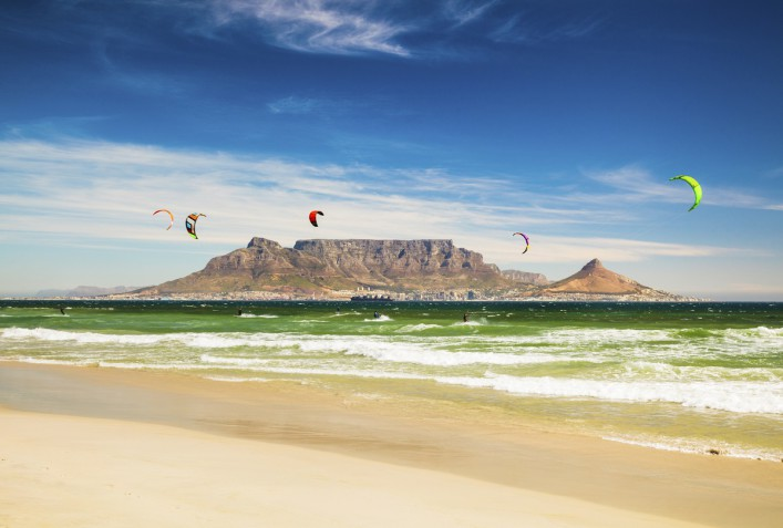 Kitebarding near Table Mountain and Cape Town in South Africa iStock_000061255860_Large