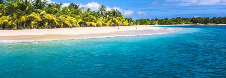 Lonely tropical island in the Caribbean Bahamas iStock_000020037538_Large