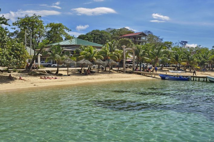 West Bay Beach in Isla Roatan, Honduras shutterstock_738492541