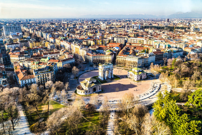 An overview of the city of Milan in Italy iStock_000060172226_Large-2