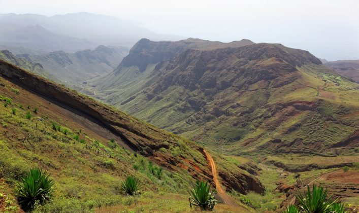 Hiking on island of Sao Nicolau, Cape Verde