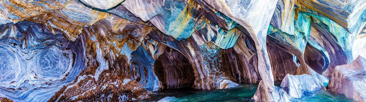 Marble Caves in Chile Marmorhöhlen