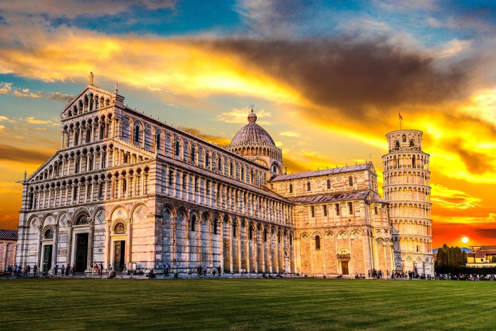 Pisa cathedral in a summer evening in Italy shutterstock_347294597-2
