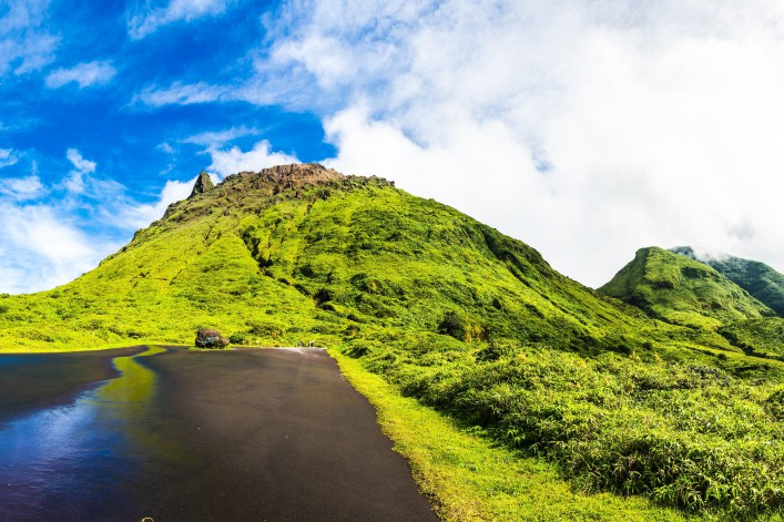Soufriere volcano is the highest mountain in Guadeloupe, French department in Caribbean shutterstock_373292035-2