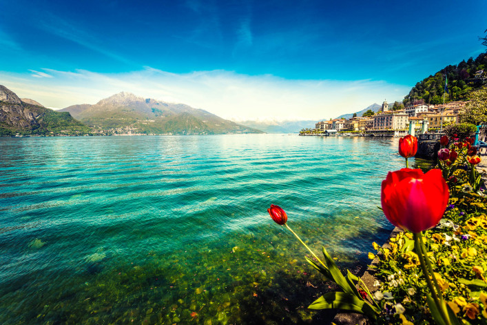 Town of Bellagio on Como Lake in Spring, Italy iStock_000020134867_Large-2