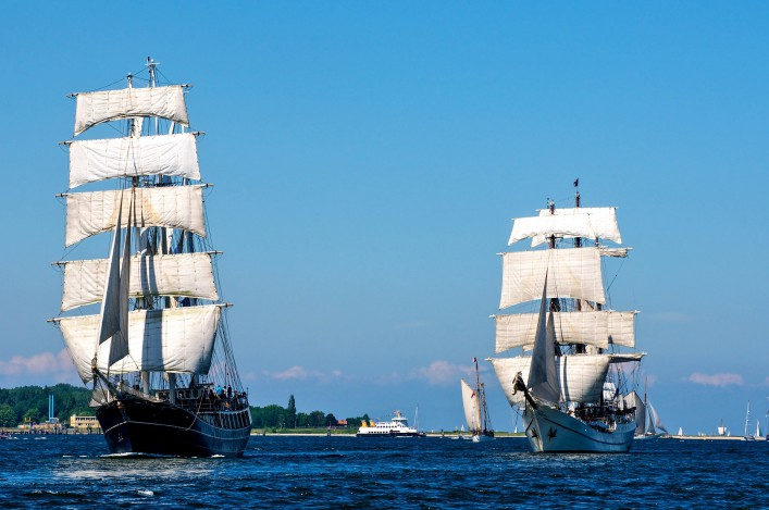 traditional sailing-ship in Kiel, Germany shutterstock_56072578-2