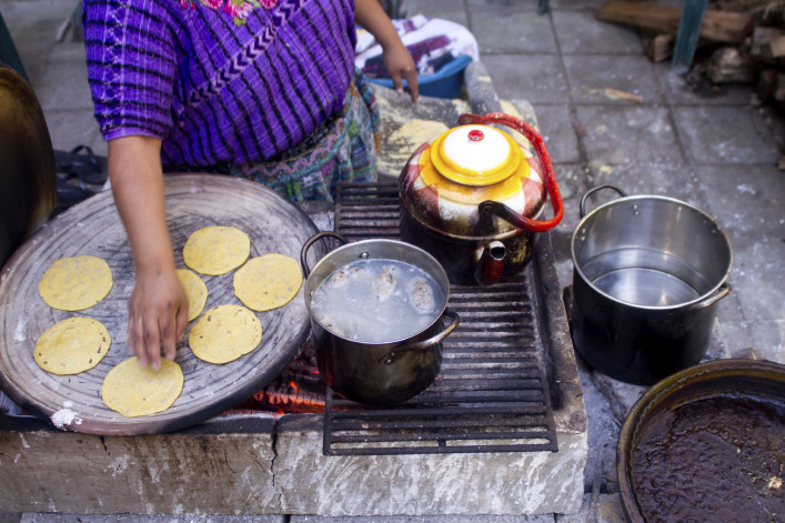 Woman making Tortillas iStock_000011753154_Large