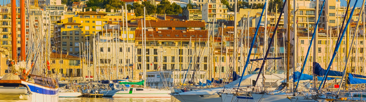 Yachts in the port of Marseille