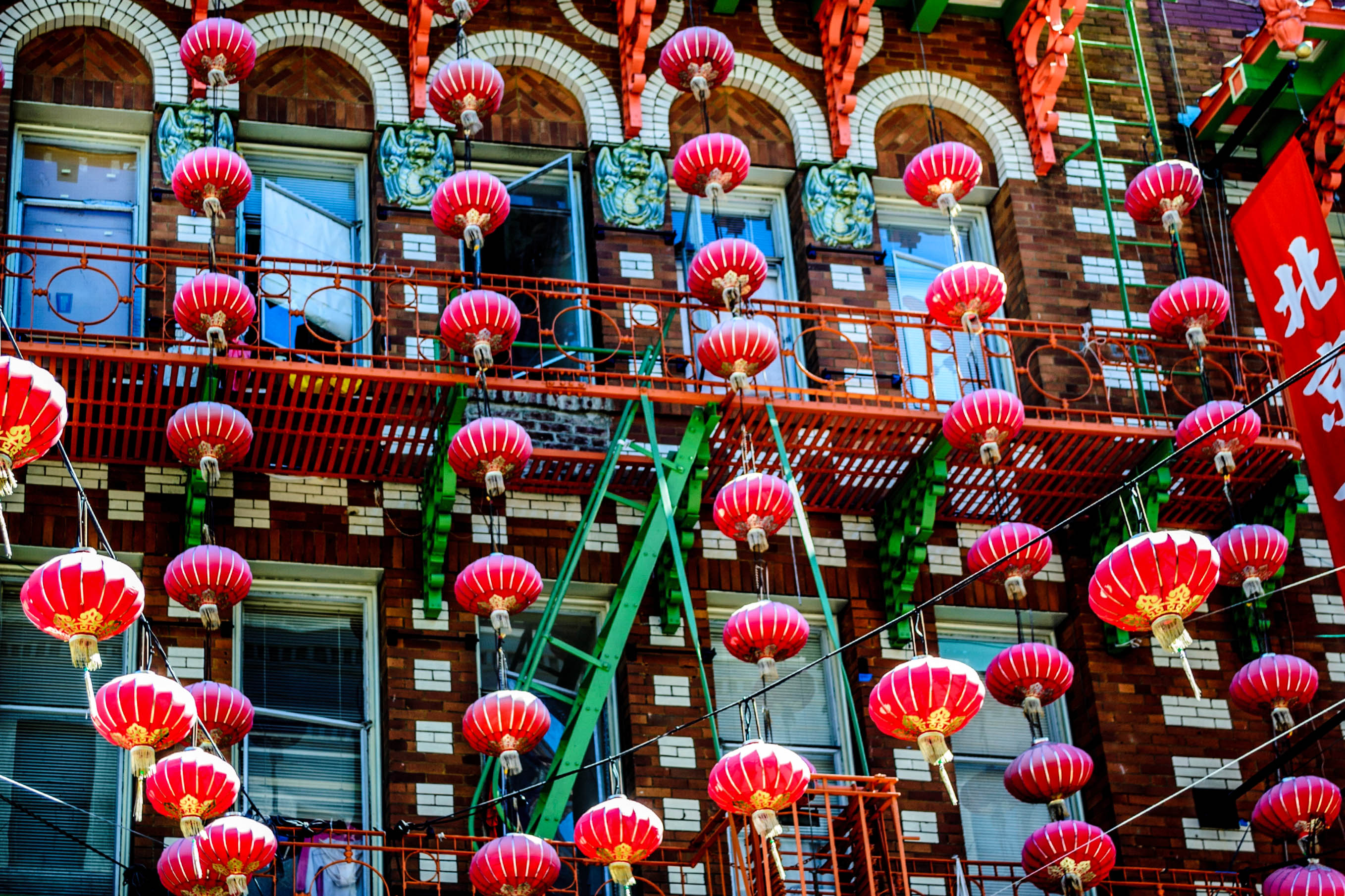 Chinatown Laternen in San Francisco