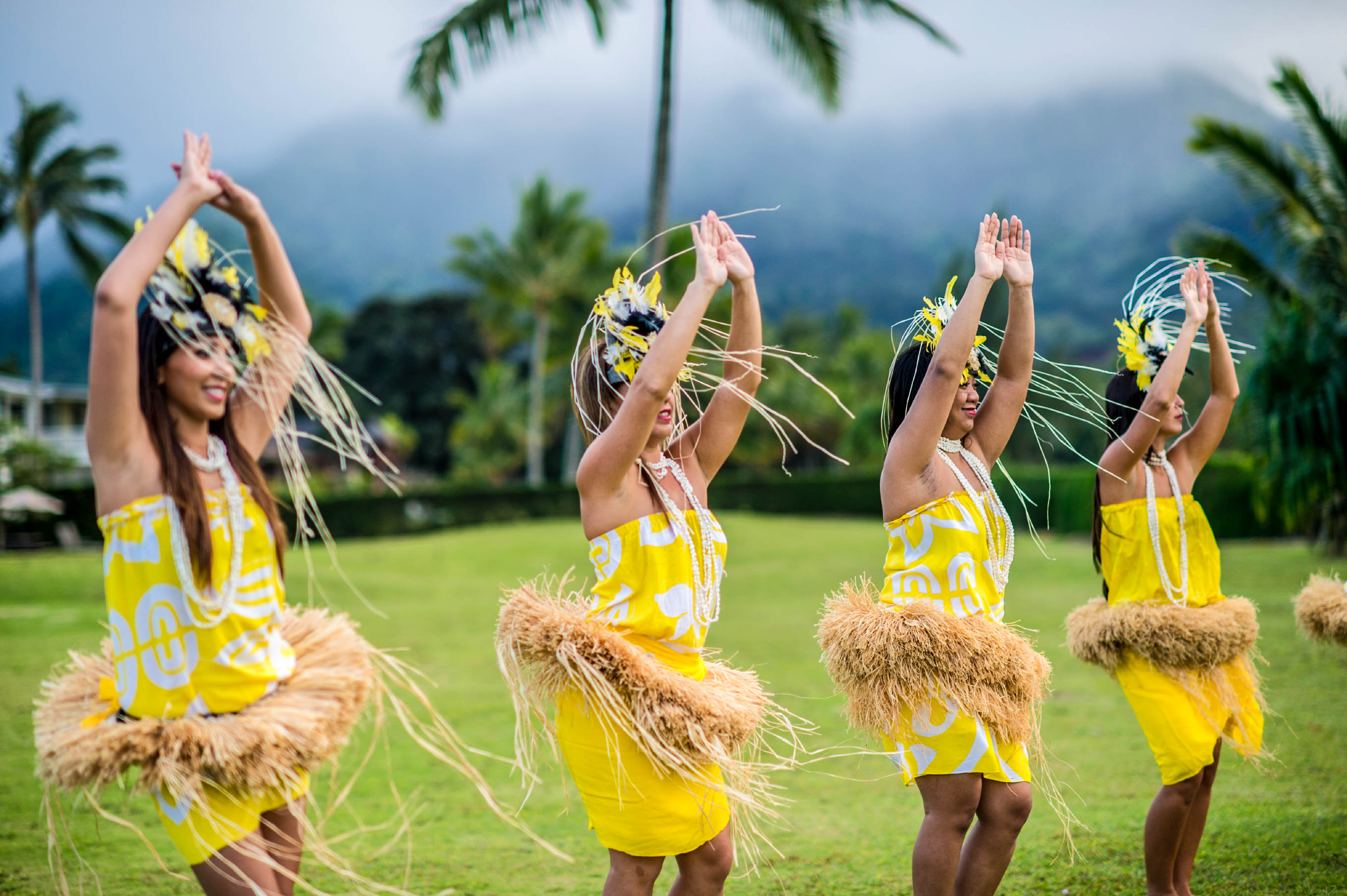 Der traditionelle Hula-Tanz, Hawaii Big Island
