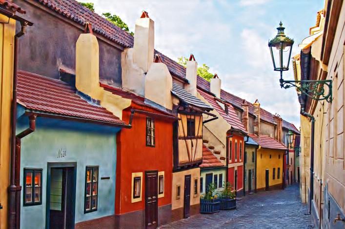 Sehenswürdigkeiten in Prag Prager Burg Goldenes Gässchen