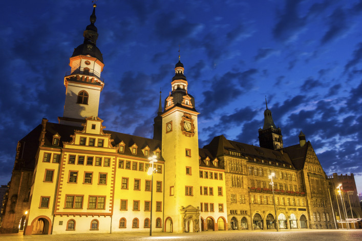 Old Town Hall of Chemnitz in Germany shutterstock_399179995