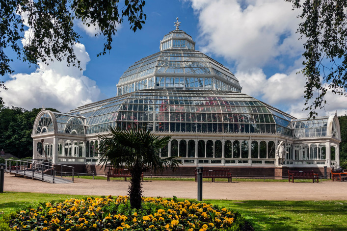 The palm house in Sefton park, Liverpool iStock_000037635692_Large-2