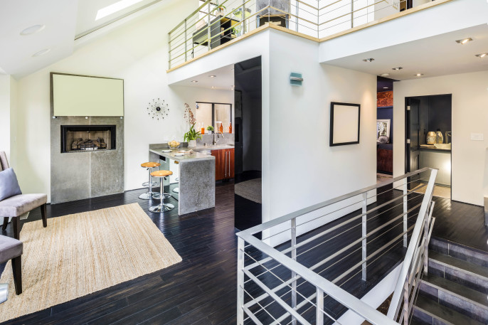 Bright modern, contemporary two story Loft shutterstock_311042828-2