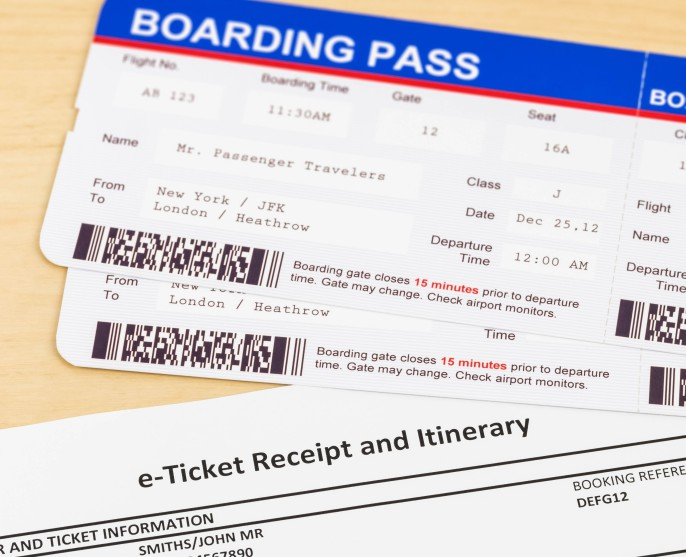 E-ticket and boarding pass; e-ticket and boarding pass are mock-up shutterstock_291724580-2