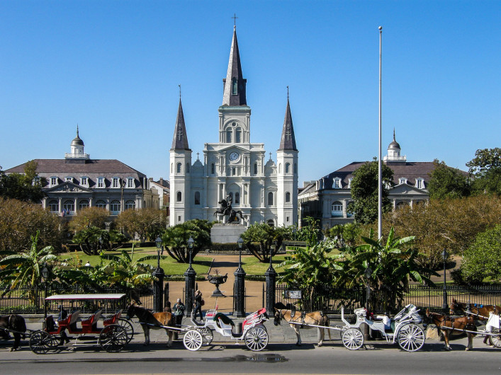 St. Louis Cathedral in the French Quarter, New Orleans, Louisiana shutterstock_21811567-2