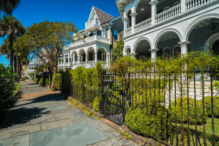 Historic southern style homes in Charleston, South Carolina shutterstock_160962701-2