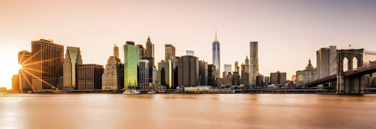 Lower Manhattan at sunset