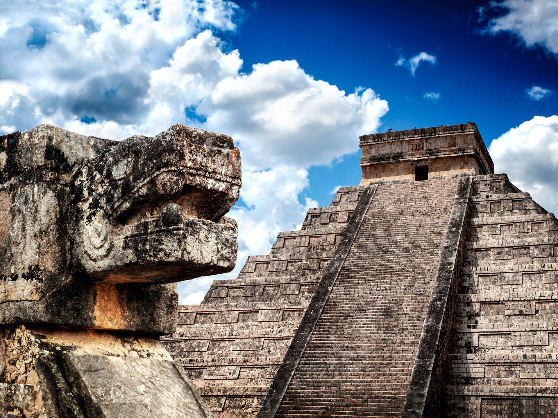 Maya Chichen Itza in Mexiko