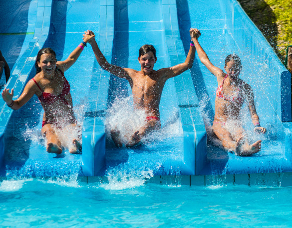 1-2-FLY children on the waterslide