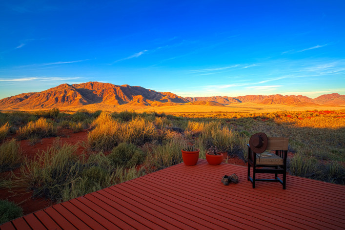 An afar view of The Losberg in Namibia