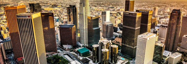 Aerial view of Los Angeles City iStock_000054674058_Large-2