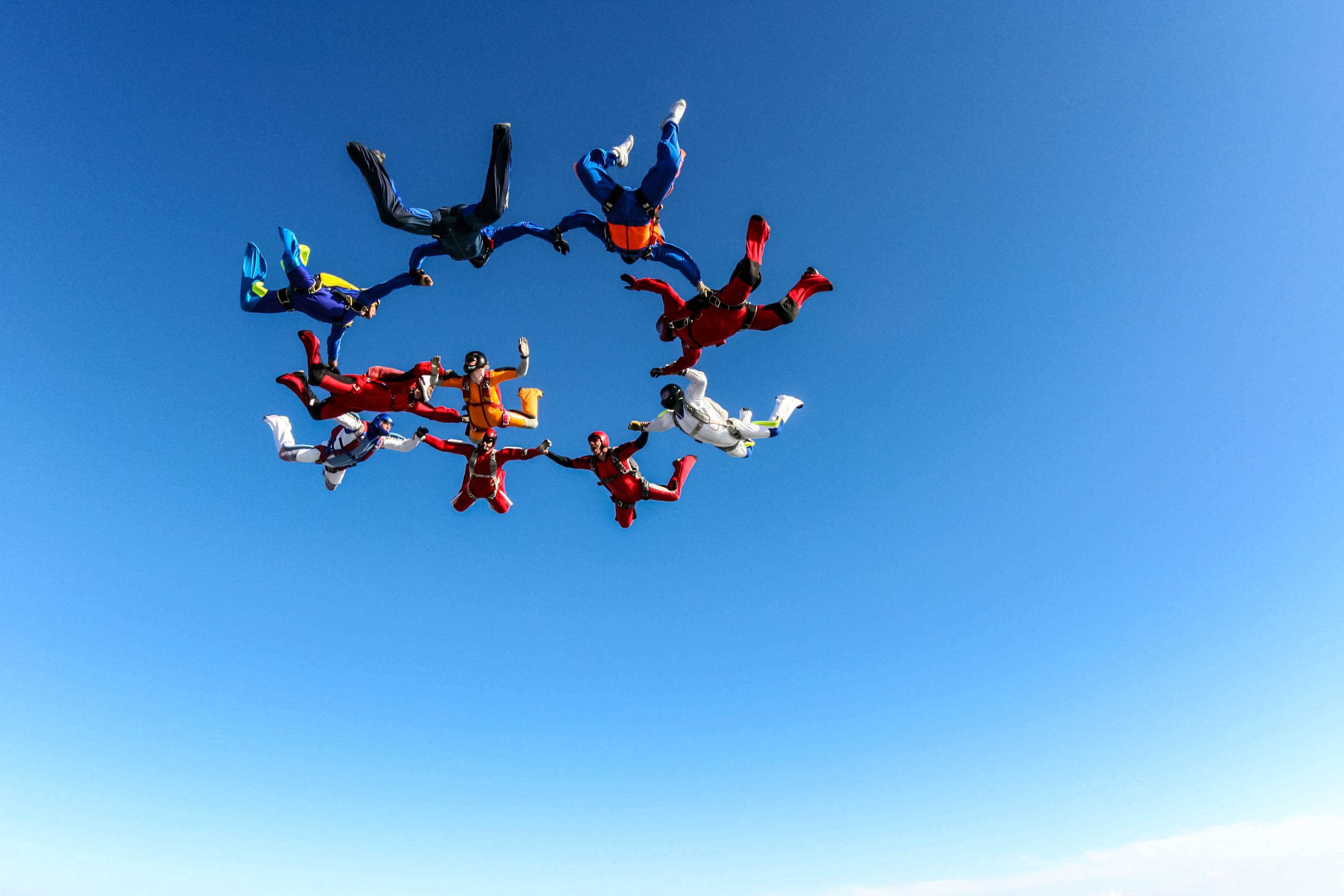 Skydiving in Byron Bay, Australien, Action