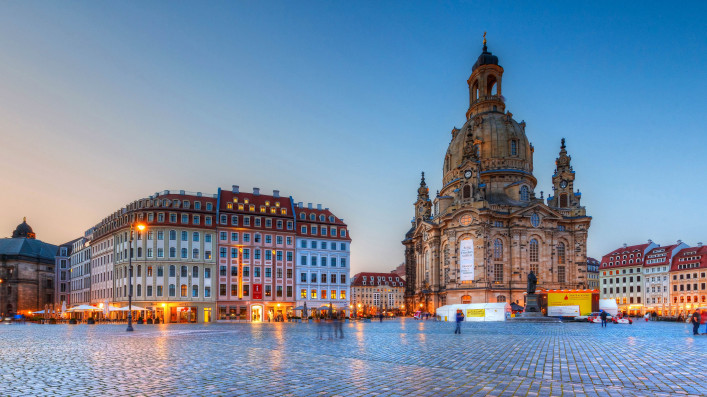 Neumarkt square in the old town of Dresden, Germany shutterstock_429978895 EDITORIAL ONLY Milan Gonda-2