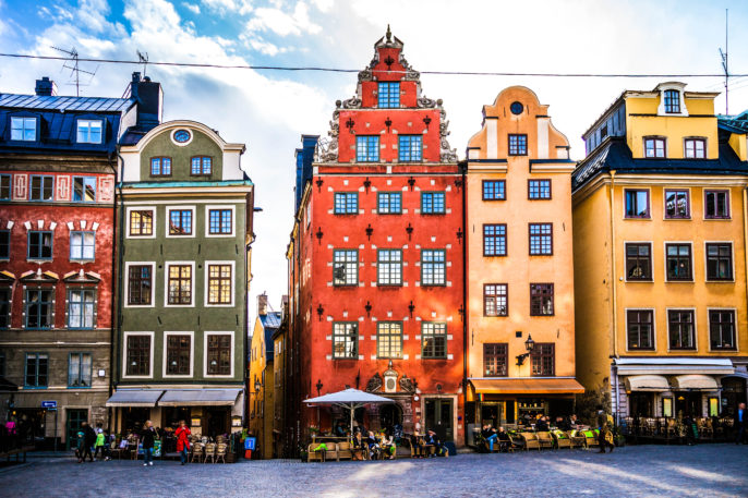 Stockholm, Sweden, Old town and town square