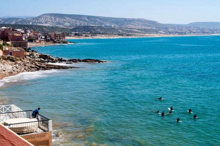 Surfer in Taghazout