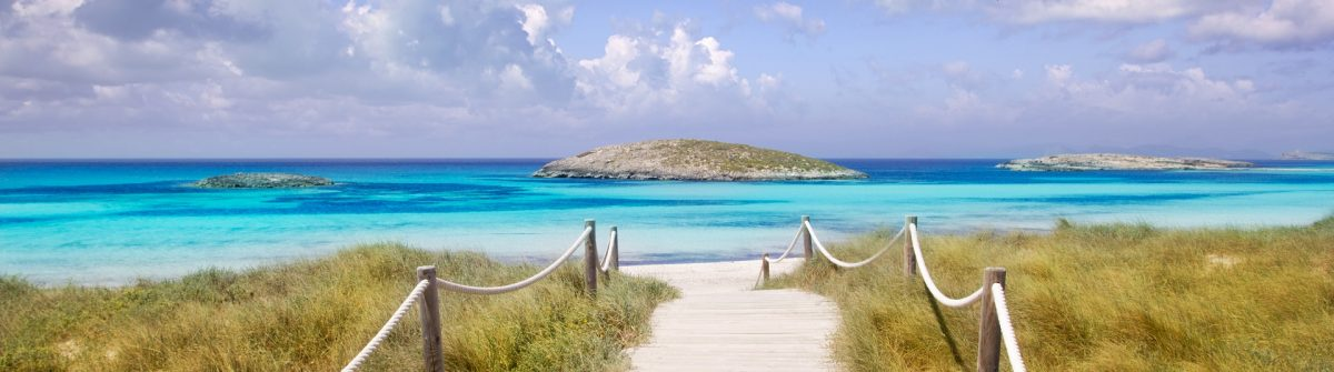 beach way to Illetas paradise in Formentera near Ibiza