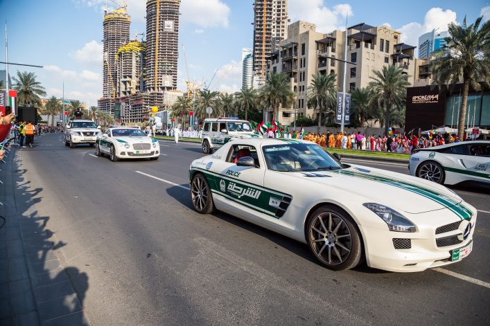 Polizeiautos in Dubai