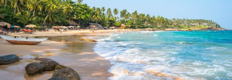 The Palm beach Goyambokka, situated in the west of Tangalle, Sri Lanka