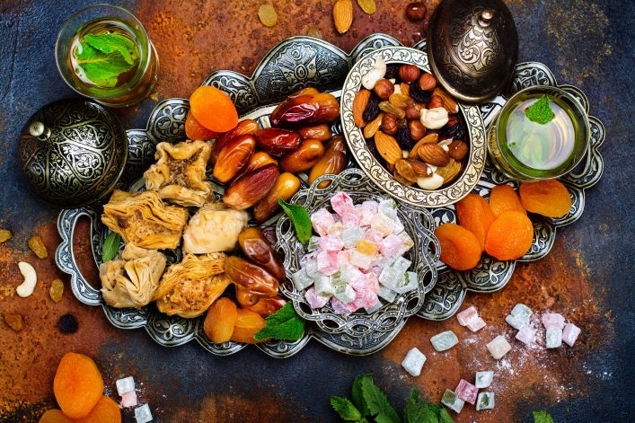 Ramadan Kareem holiday table