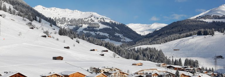 gerlos austria in the winter snow and mountains_shutterstock_127263599