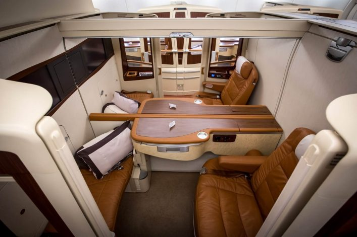 First Class bei Singapore Airlines