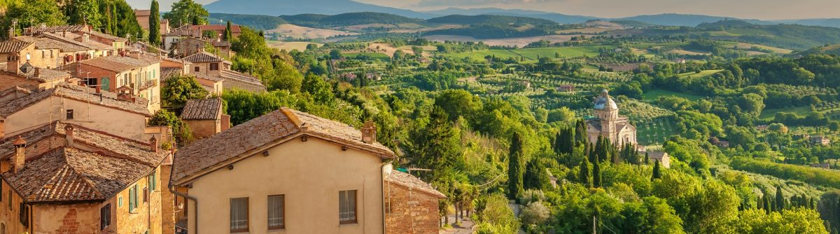 Landscape of the Tuscany seen from the walls of Montepulciano, Italy shutterstock_264759209