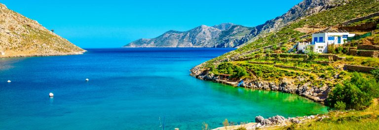 Amazing sea bay on Greek Island