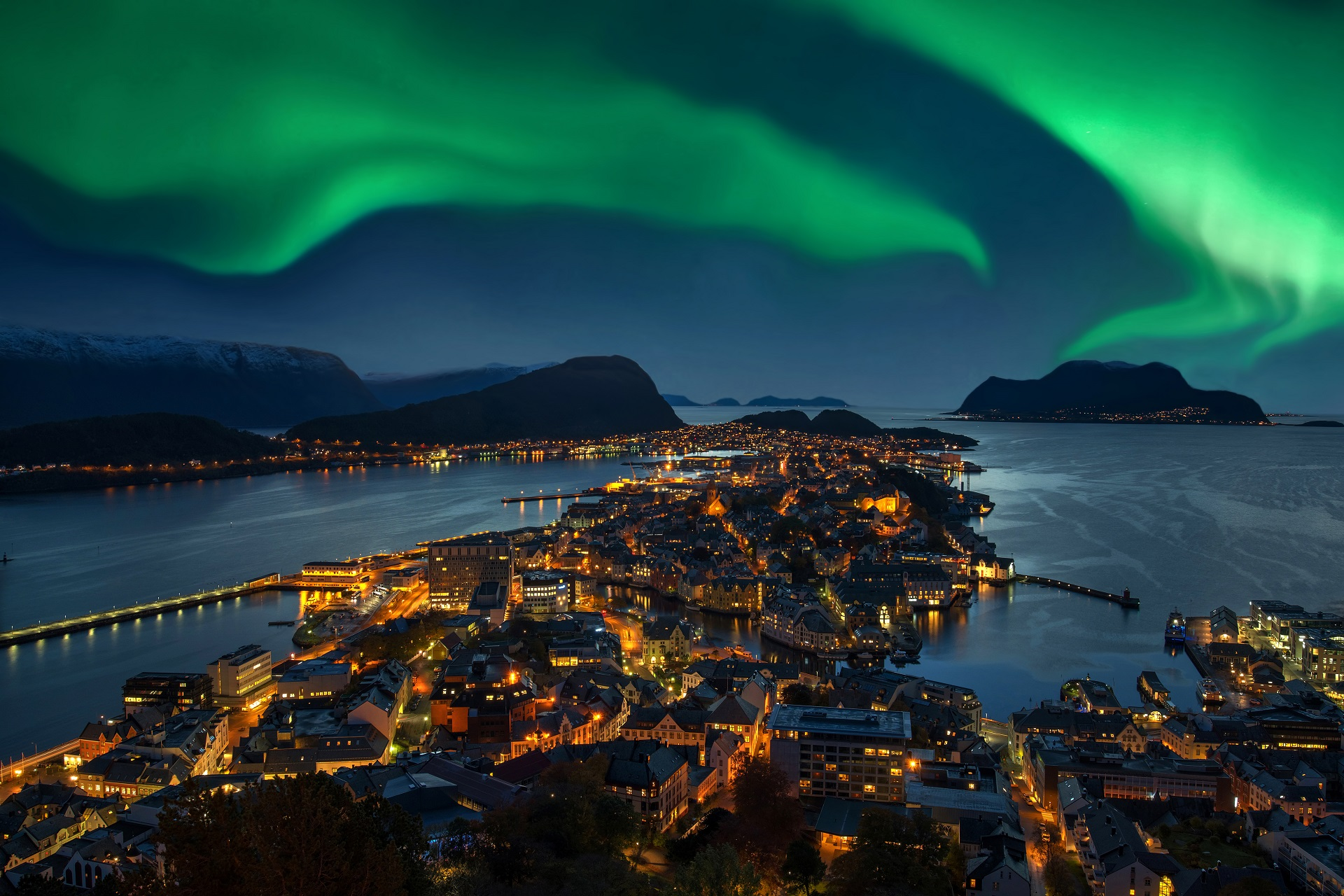Polarlichter in Norwegen